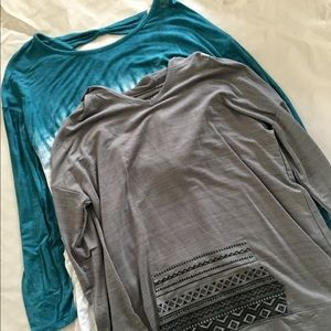 Lot of Two Justice Girls LS Knit Tops 18-20 NWT